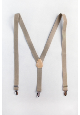 (Backorder) Men's Elastic Suspenders in Khaki