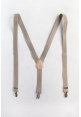 Men's Elastic Suspenders in Khaki