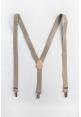 Men's Elastic Suspenders in Khaki