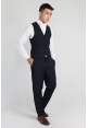 Mens Slim Fit Trousers in Navy