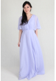 Jenna Flutter Sleeves Chiffon Dress