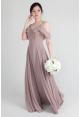 Sienna Flutter Drop Shoulder Chiffon Dress