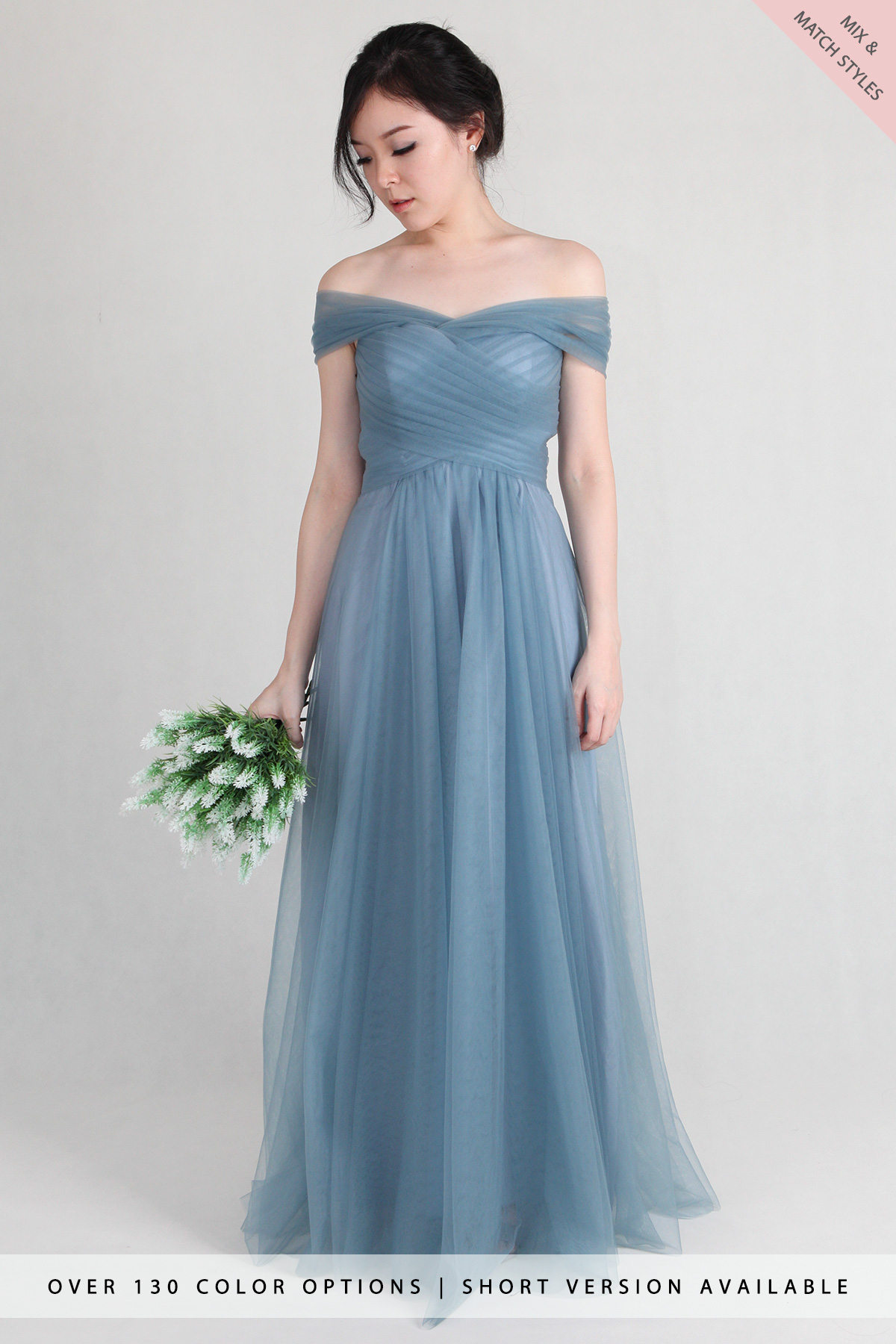 Astrid Off Shoulder Tulle Multiway Dress