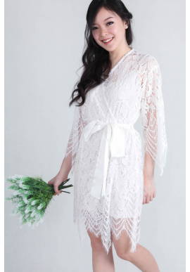 Luna Lace Bridal Robe (Short)
