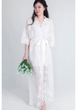 Bella Lace Bridal Robe