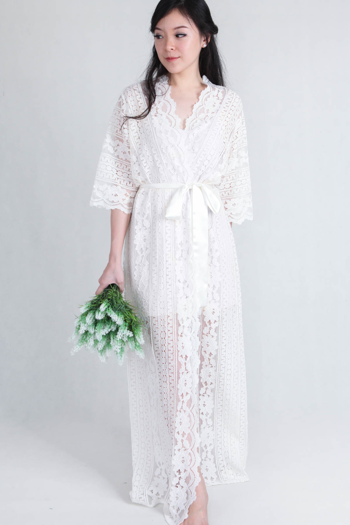 Bella Lace Bridal Robe - PS Curate 1c32a5055