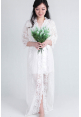 Bella Lace Bridal Robe