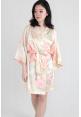 Watercolour Satin Kimono Robe in Champagne