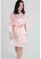 Watercolour Satin Kimono Robe in Pink