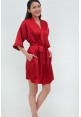 Luxe Satin Robe in Red