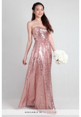 Giselle Sweetheart Sequin Dress