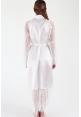 Hanna Eyelash Lace Bridal Robe