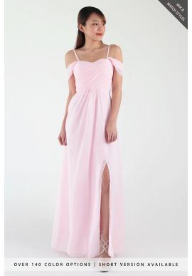 Pippa Cold Shoulder Chiffon Dress