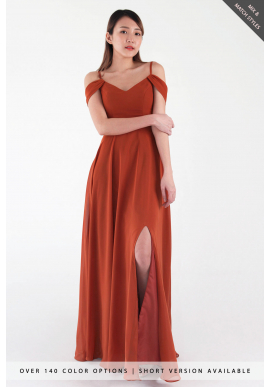 Aryn Off Shoulder Spag Chiffon Dress