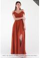 Aryn Off Shoulder Spag Chiffon Dress
