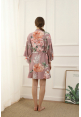 Petra Floral Ruffle Robe in Mauve