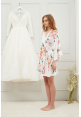 Petra Floral Ruffle Robe in White