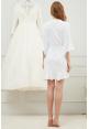 Kiara Ruffle Robe in White