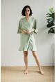 Kiara Ruffle Robe in Sage