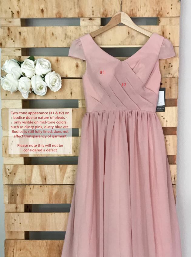 Delilah Capped Sleeves Dress Bodice